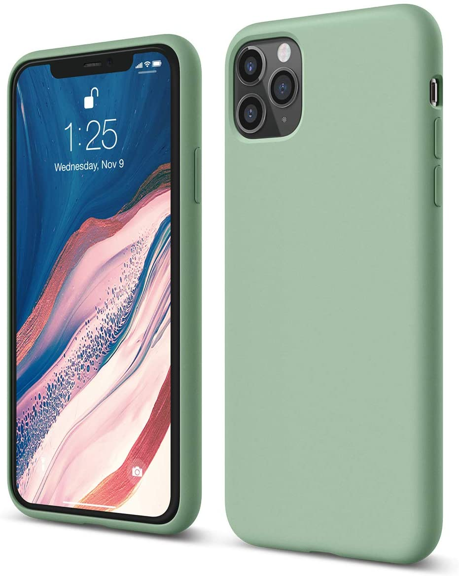 IPHONE 11PRO MAX Cover Neutra TPU VERDE PASTELLO