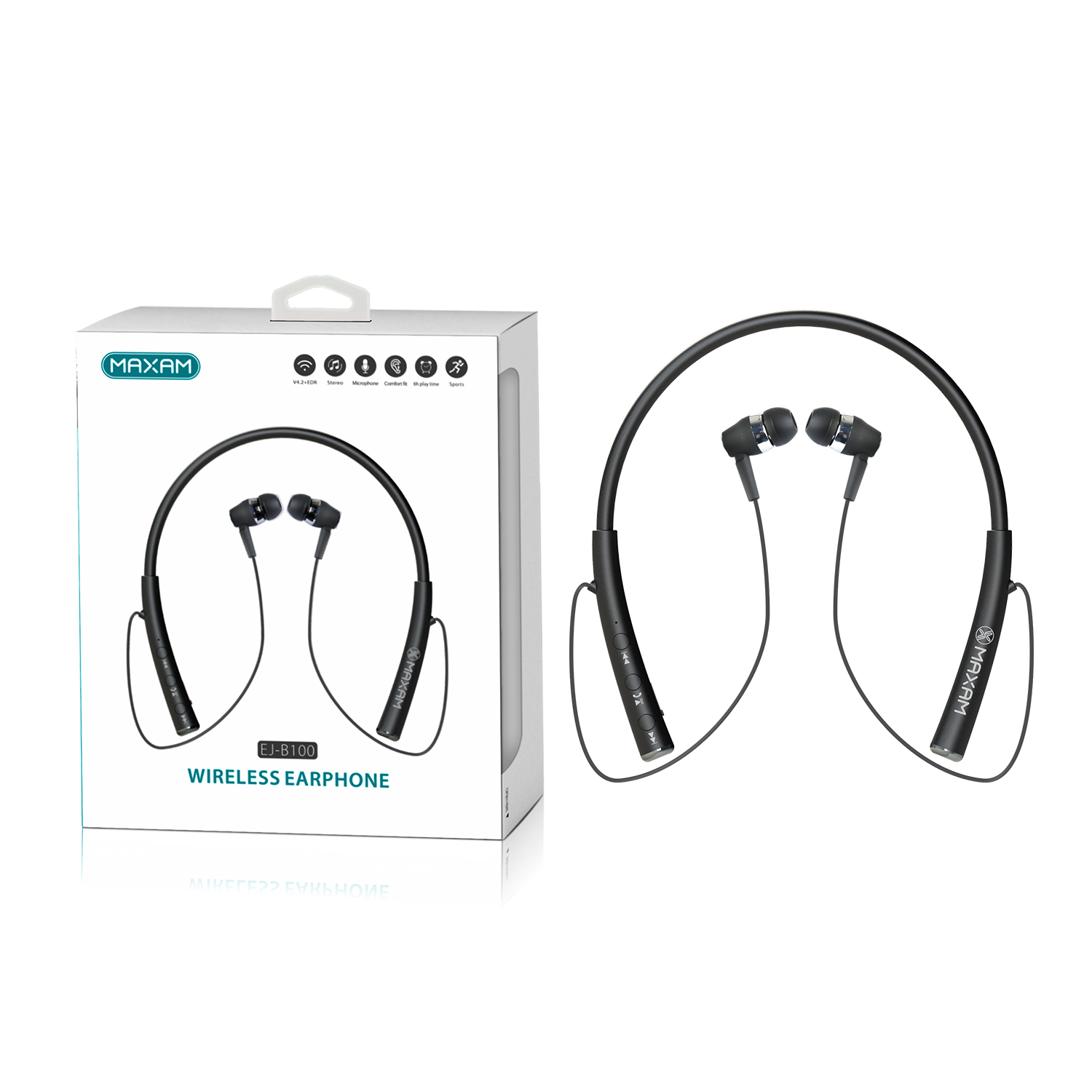 EJ-B100Black Auricolare Wireless