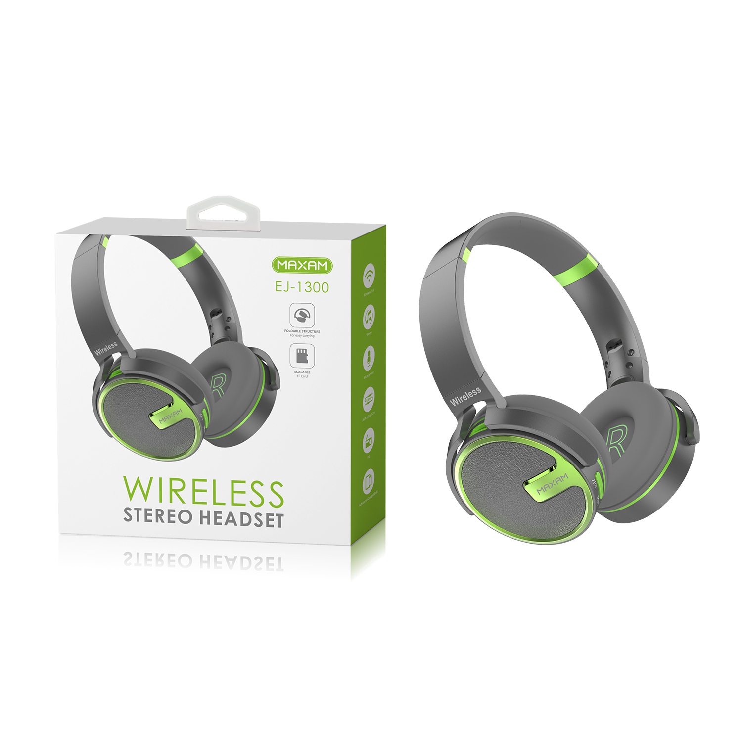 EJ-1300Green Wireless stereo