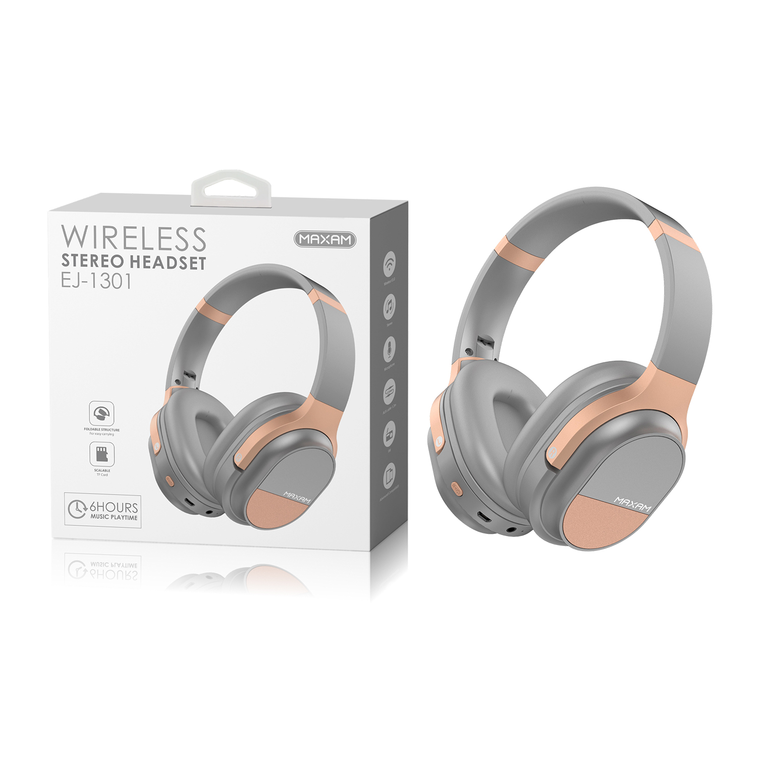 EJ-1301Gold Wireless stereo
