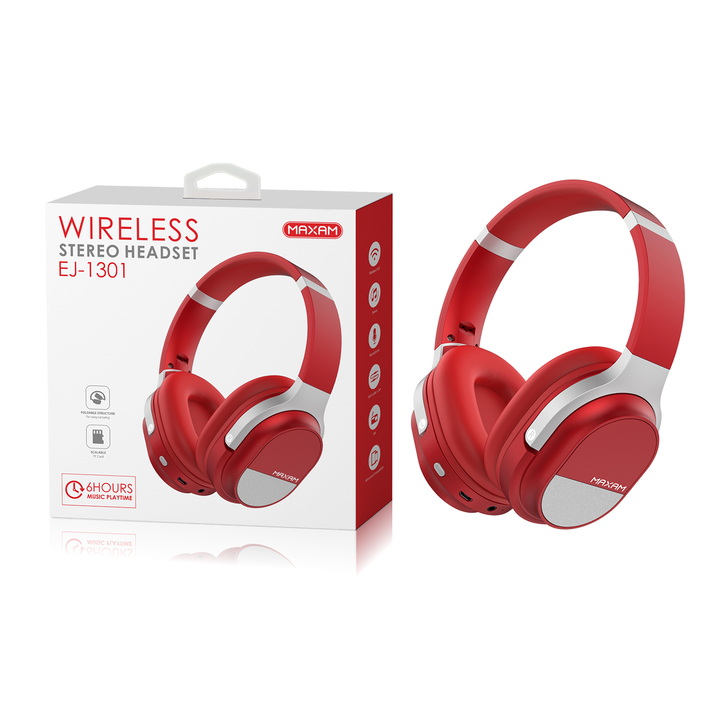 EJ-1301Red Wireless stero