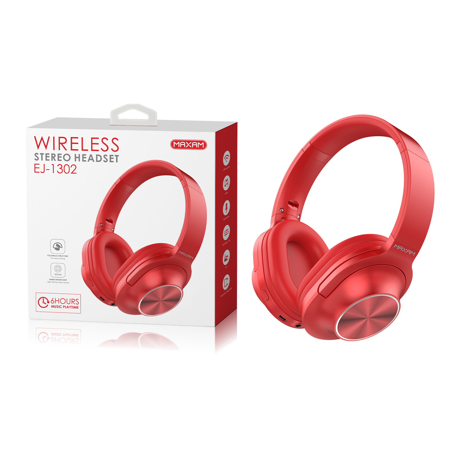 EJ-1302Red Wireless stereo